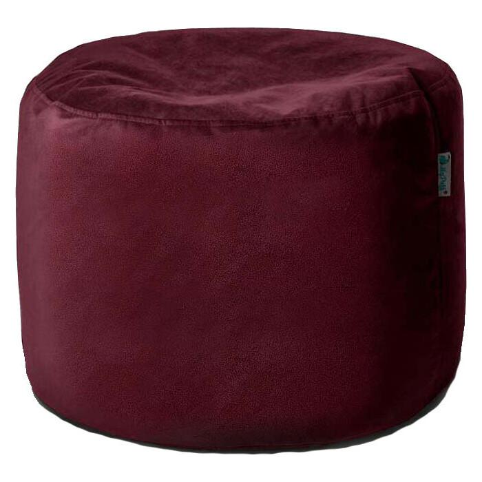 Пуфик бескаркасный Mypuff Цилиндр бордо мебельная ткань pkv-468