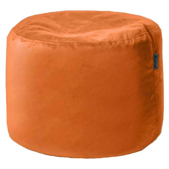 Пуфик бескаркасный Mypuff Цилиндр рыжий мебельная ткань pkv-473