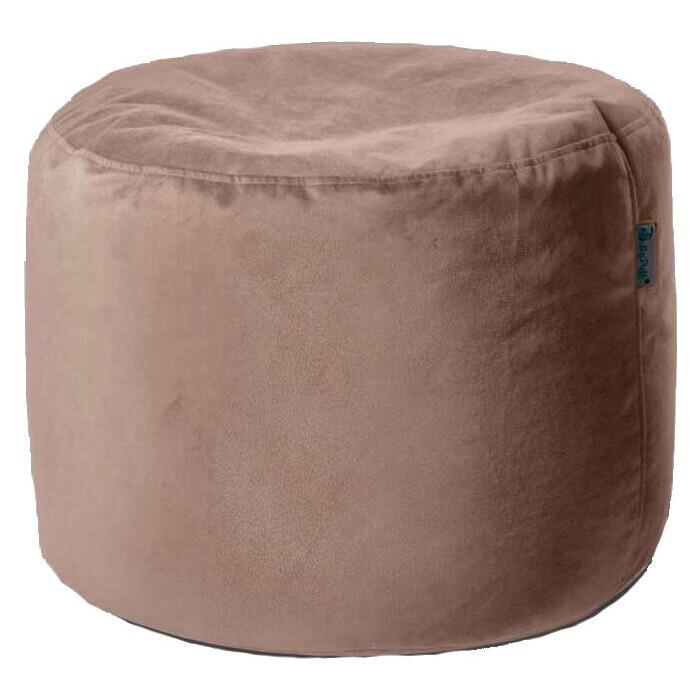 Пуфик бескаркасный Mypuff Цилиндр бежевый мебельная ткань pkv-474