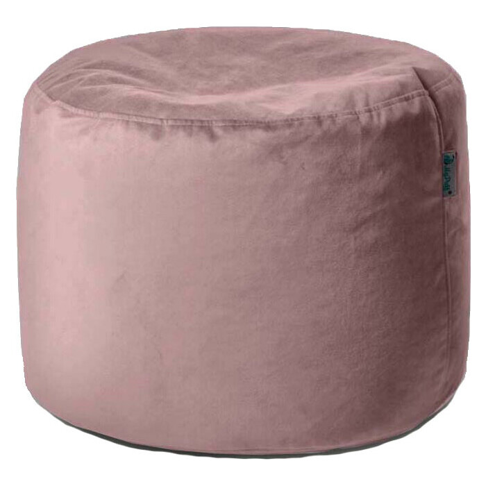 Пуфик бескаркасный Mypuff Цилиндр пудра мебельная ткань pkv-480