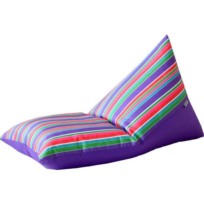 Детский бескаркасный пуфик Mypuff Пирамида Арлекин фиалка мебельный хлопок sh-365-358