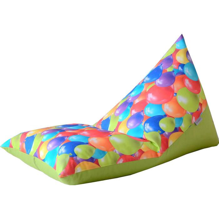 Детский бескаркасный пуфик Mypuff Пирамида воздушные шары мебельный хлопок sh-367-359