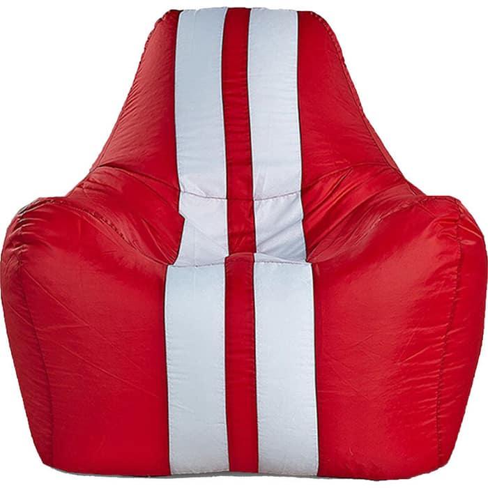 Кресло бескаркасное Mypuff Спортбэг красный оксфорд sport-017-013