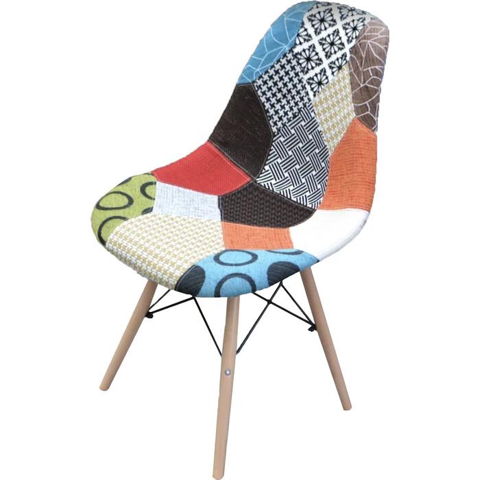 Кресло обеденное Garden story Терри каркас светлое дерево/сиденье разноцветное W-126