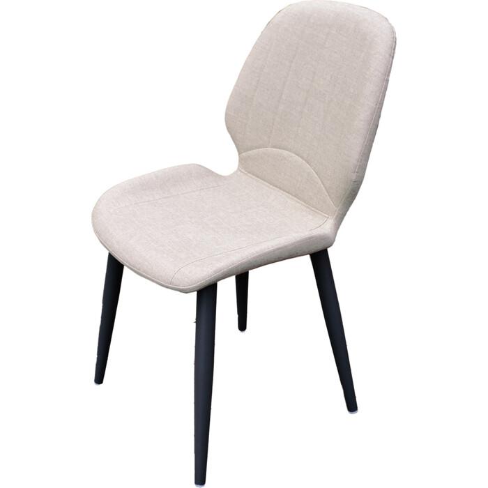 Кресло обеденное Garden story Оливер каркас черный/сиденье бежевое W-125