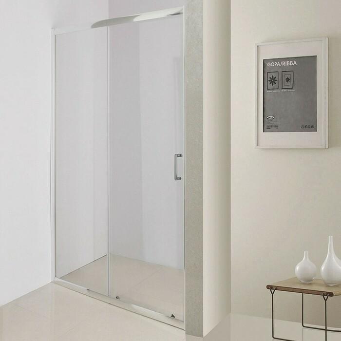 Душевая дверь BelBagno Uno профиль хром, стекло прозрачное (UNO-195-BF-1-100-C-Cr)