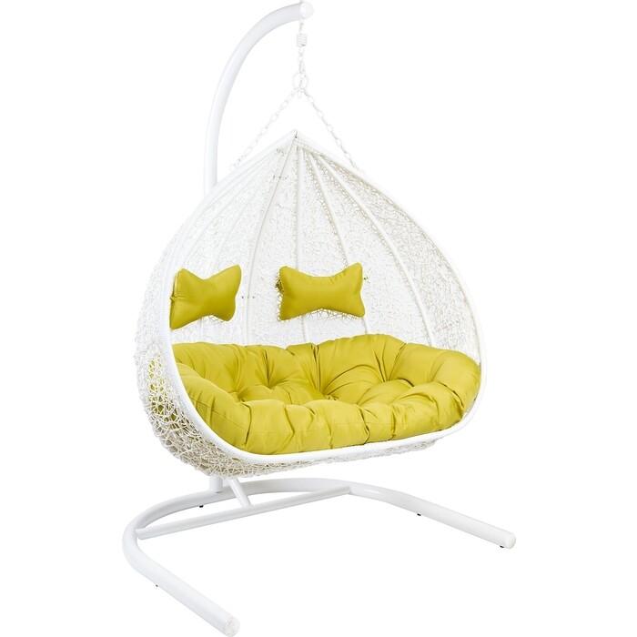 Кресло подвесное для двоих EcoDesign GEMINI White Y0070 (W)