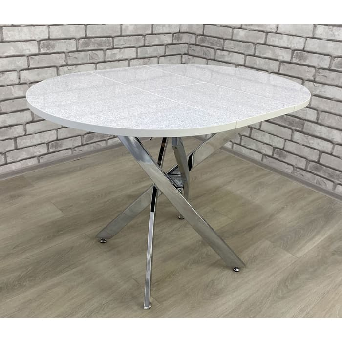 Стол Мир стульев Андромеда хром/андромеда белый глянец