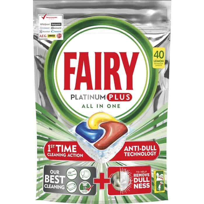 Капсулы для посудомоечной машины Fairy Platinum Plus All in One, лимон