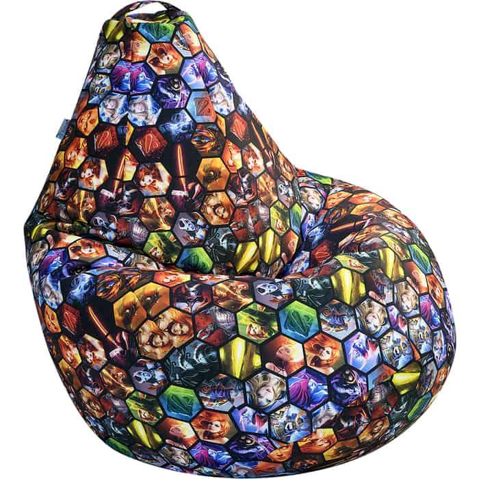 Кресло бескаркасное Mypuff Груша для геймеров Dota 2 размер комфорт, мебельный хлопок bbb_611