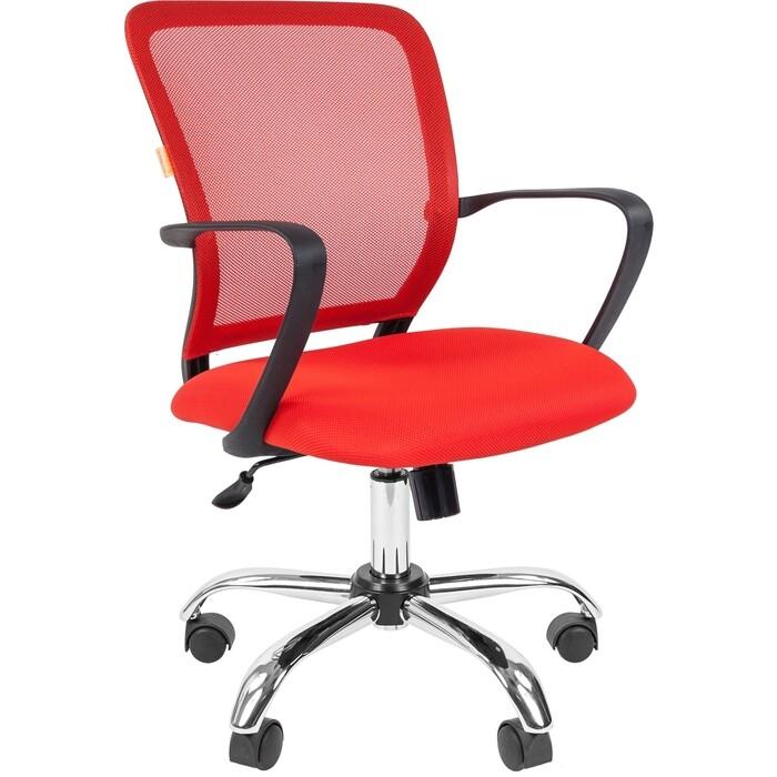 Офисноекресло Chairman 698 TW-69 красный хром