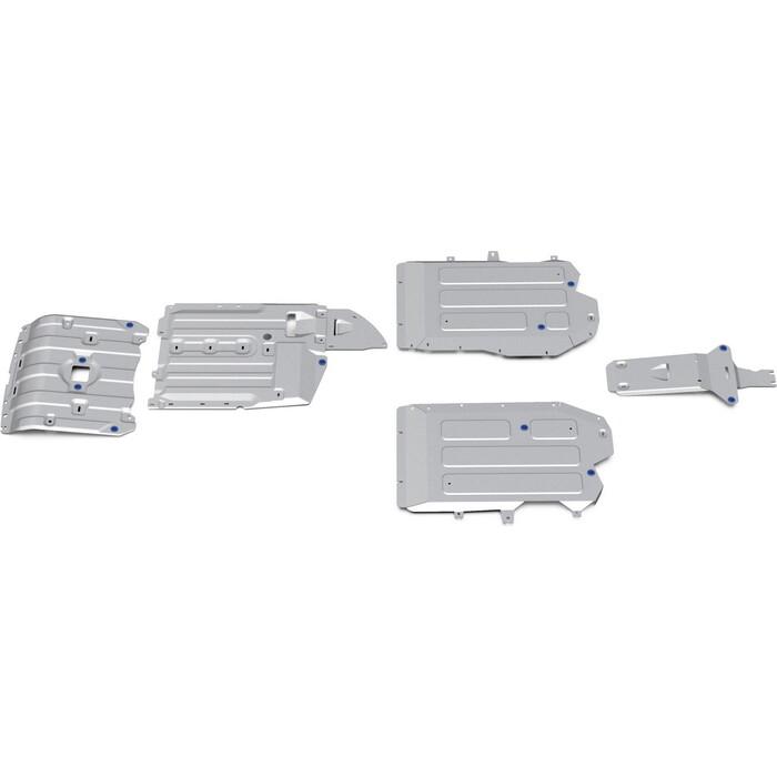 Защита радиатора, картера, КПП, РК, топливного бака и редуктора Rival для BMW X5 G05 (2018-н.в.)/ X6 G06 (2019-н.в.), алюминий 3 мм, с крепежом, K333.0534.1