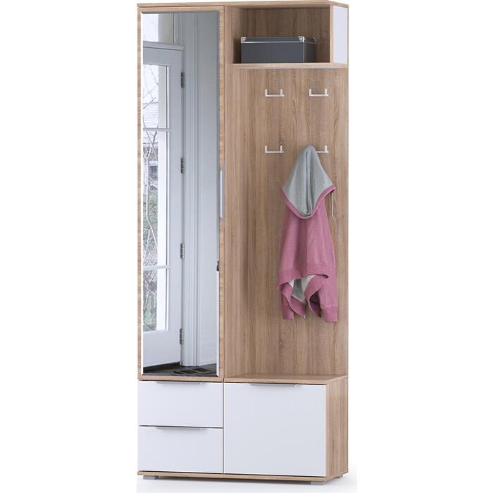 Шкаф комбинированный Моби Куба 10.14 дуб сонома/белый премиум универсальная сборка шкаф навесной моби линда 313 160 дуб сонома белый