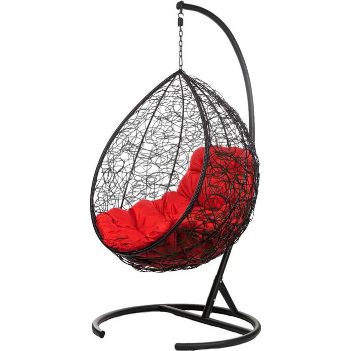 Подвесное кресло BiGarden Tropica black красная подушка