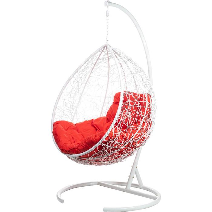 Подвесное кресло BiGarden Tropica white красная подушка