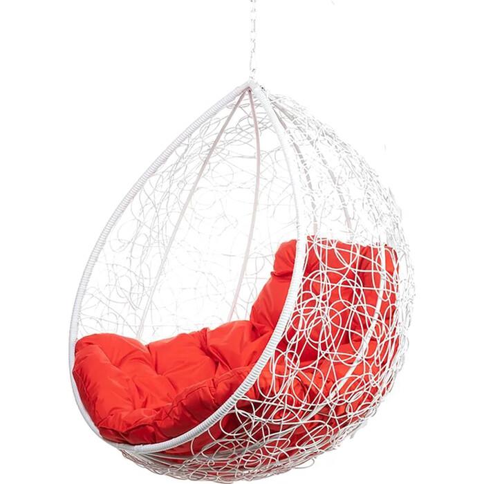 Подвесное кресло BiGarden Tropica white BS без стойки красная подушка