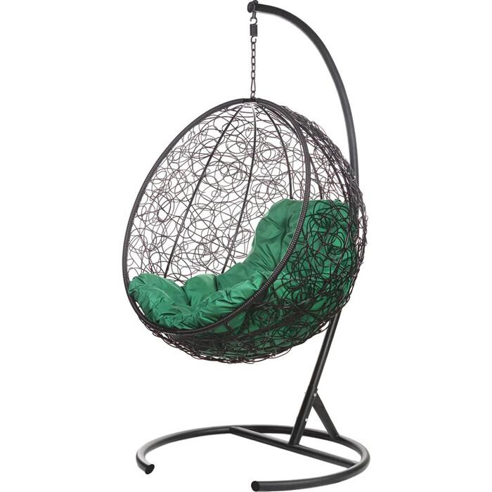 Подвесное кресло BiGarden Kokos black зеленая подушка