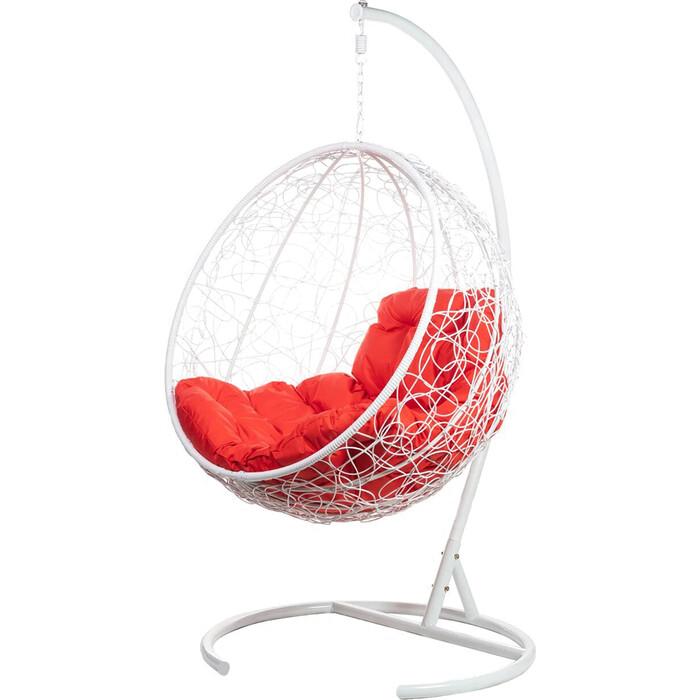 Подвесное кресло BiGarden Kokos white красная подушка