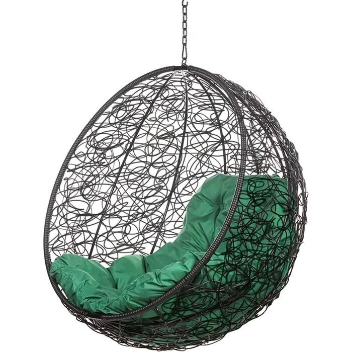 Подвесное кресло BiGarden Kokos black BS без стойки зеленая подушка