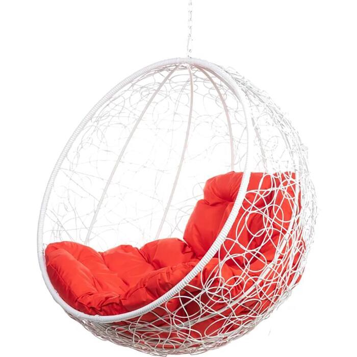 Подвесное кресло BiGarden Kokos white BS без стойки красная подушка