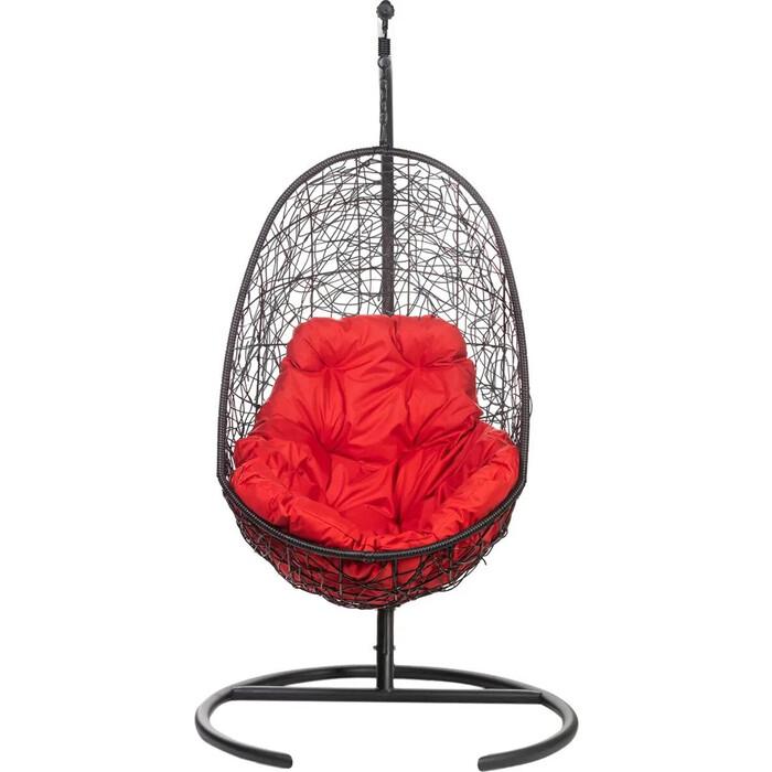 Подвесное кресло BiGarden Easy Black красная подушка
