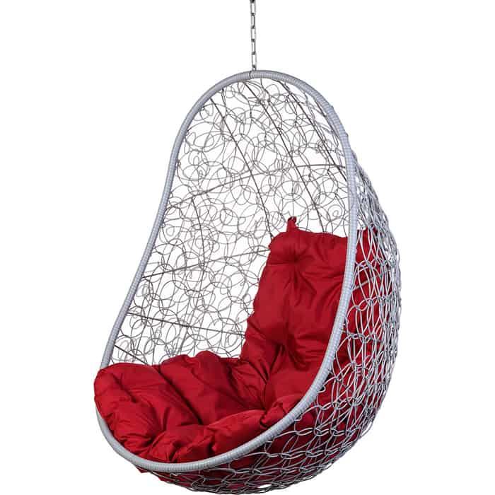 Подвесное кресло BiGarden Easy gray без стойки красная подушка