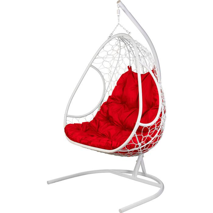 Подвесное кресло BiGarden Primavera white красная подушка