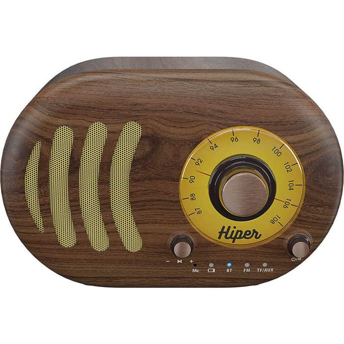 Портативная колонка Hiper RETRO S H-OT4 wooden