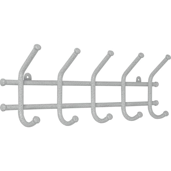 Вешалка ЗМИ Норма 5 Белое серебро настенная с крючками (ВН 24 БС)