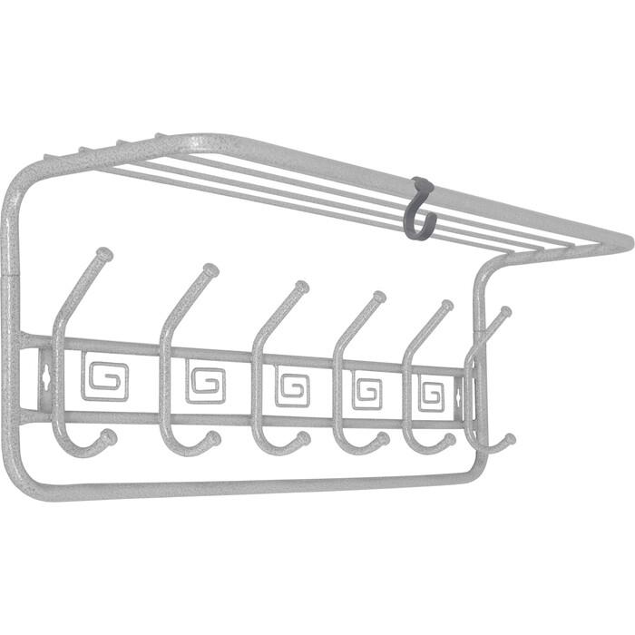 Вешалка ЗМИ Ажур Белое серебро настенная с полкой 60см (ВСПА 203 БС)