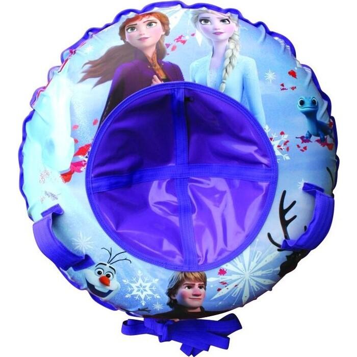 Тюбинг Disney Холодное сердце,резин.автокамера, материал глянцевый пвх 500 гр/кв.м.,120см,букс.трос,цветн.кор.
