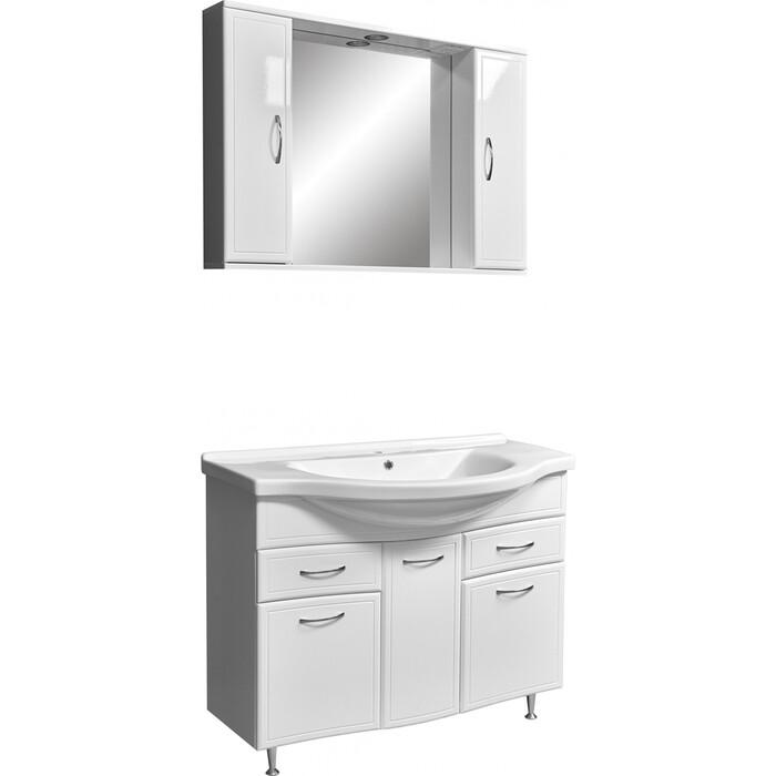 Мебель для ванной Stella Polar Концепт 100 два ящика, белая