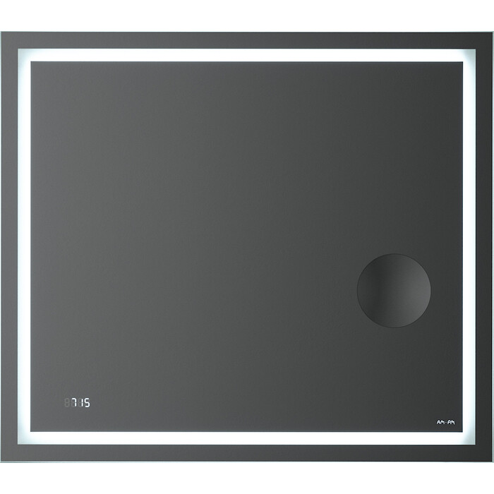 Зеркало Am.Pm Gem 80 подсветка LED, часы и косметическое зеркало (M91AMOX0803WG)