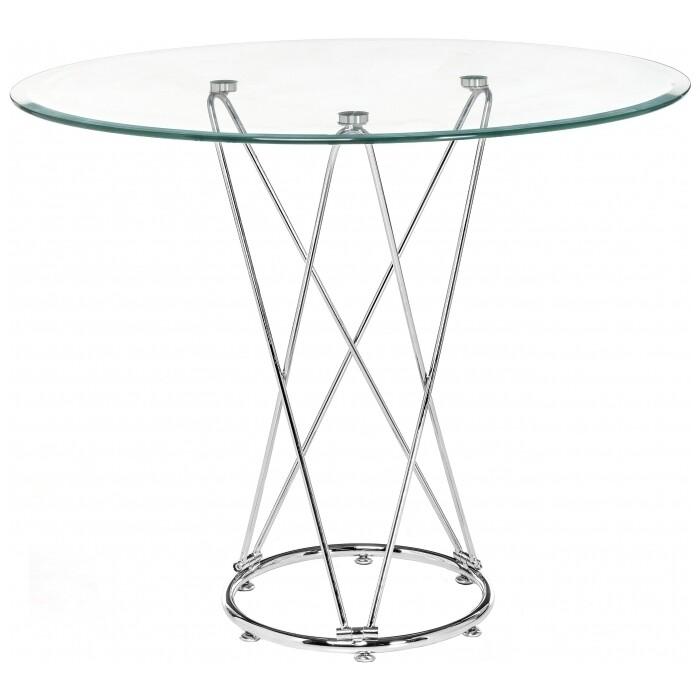 Стеклянный стол Woodville Ice 80