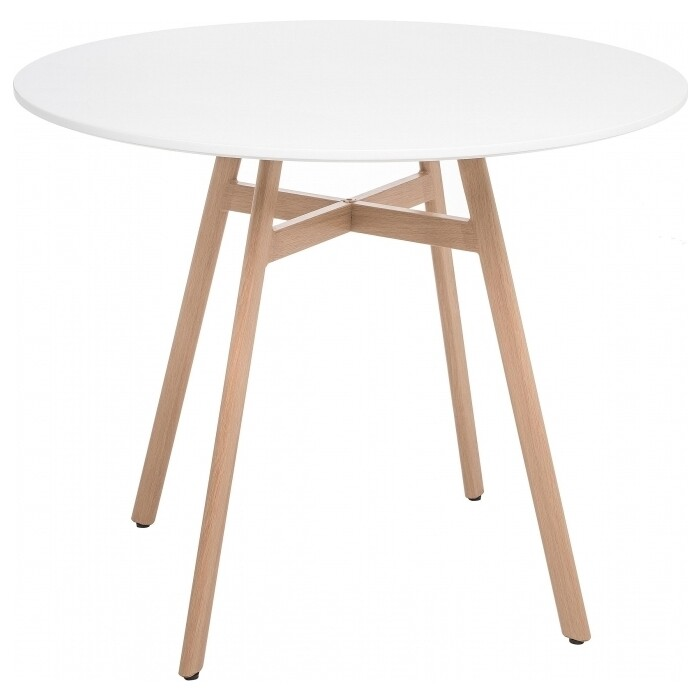Стол Woodville Skandi 80 белый стеклянный стол woodville анселм белый