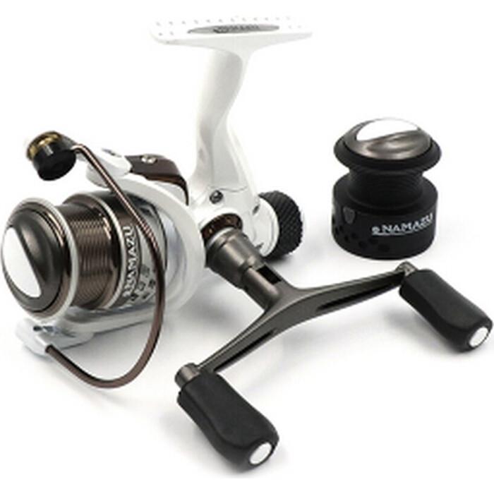 Катушка безынерционная Namazu White Fish WF2000, 4+1 подш., метал. шпуля + запасная графит.