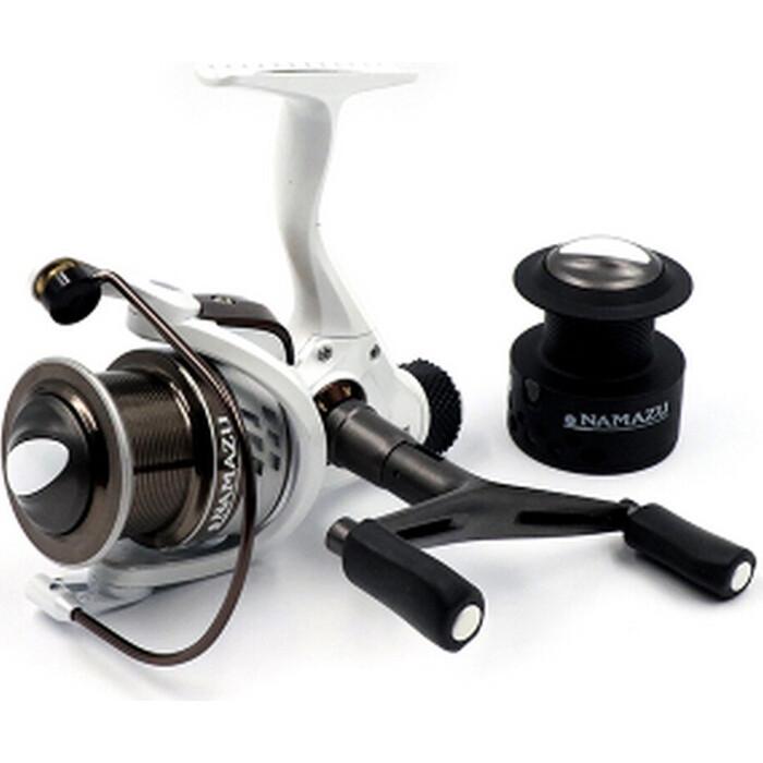 Катушка безынерционная Namazu White Fish WF4000, 4+1 подш., метал. шпуля + запасная графит.
