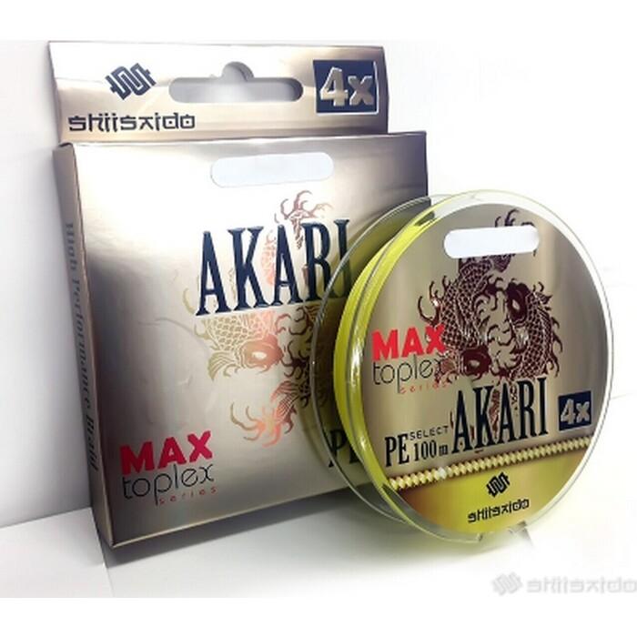 Леска плетёная Shii Saido Akari 4X, L-150 м, d-0,272 мм, test-11,33 кг, yellow