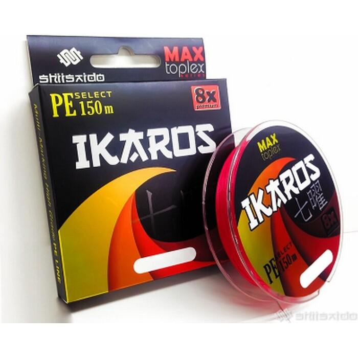 Леска плетёная Shii Saido Ikaros 8X, L-150 м, d-0,104 мм, test-4,53 кг, light pink