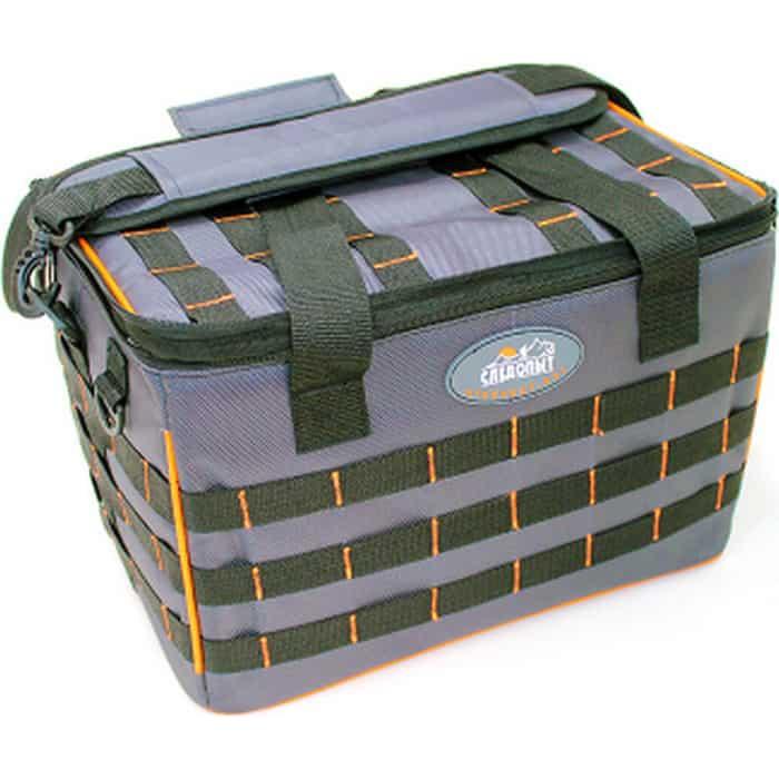 Сумка рыболовная Следопыт Base Lure Bag XL, 38х26х25 см, цв. серый + 5 коробок Luno 28