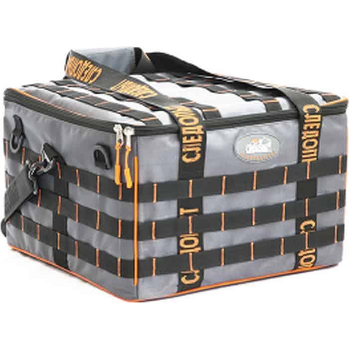 Сумка рыболовная Следопыт Base Lure Bag XXL, 38х38х25 см, цв. серый + 7 коробок Luno 28