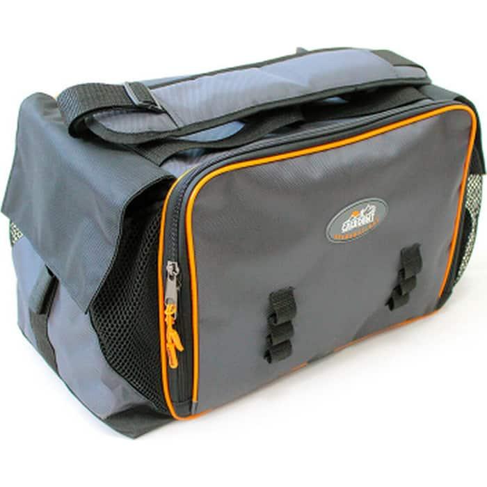 Сумка рыболовная Следопыт Lure Bag XL, 40х28х24 см, цв. серый + 5 коробок Luno 28