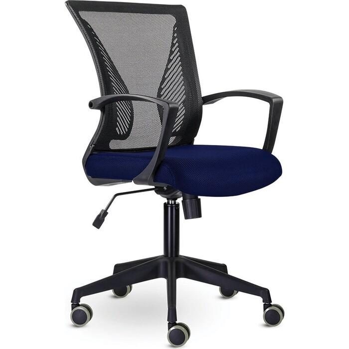 Кресло Brabix Wings MG-309 пластик черный, сетка, черное/синее 532013