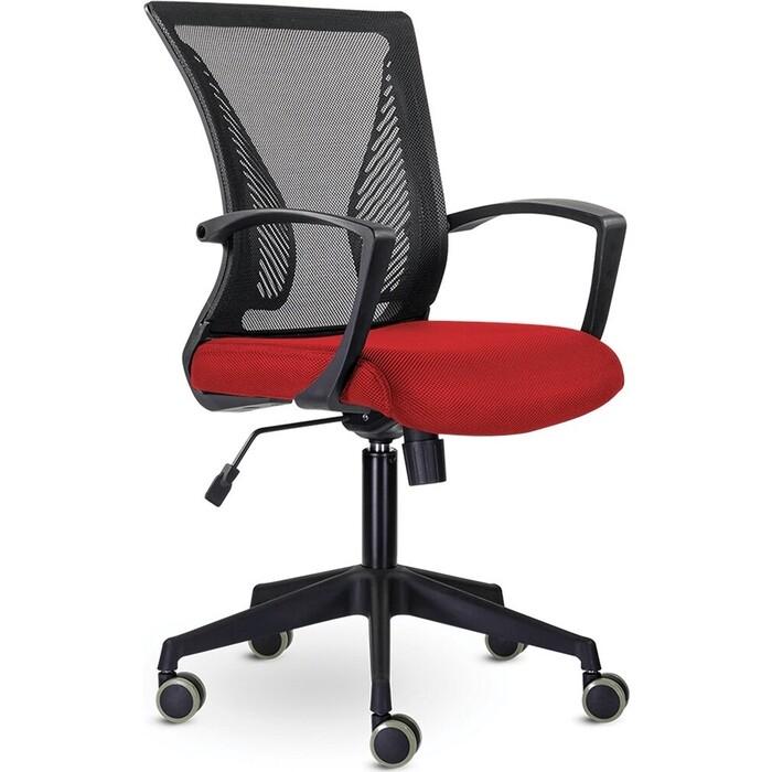 Кресло Brabix Wings MG-309 пластик черный, сетка, черное/красное 532014