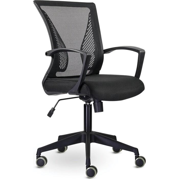 Кресло Brabix Wings MG-309 пластик черный, сетка, черное 532015