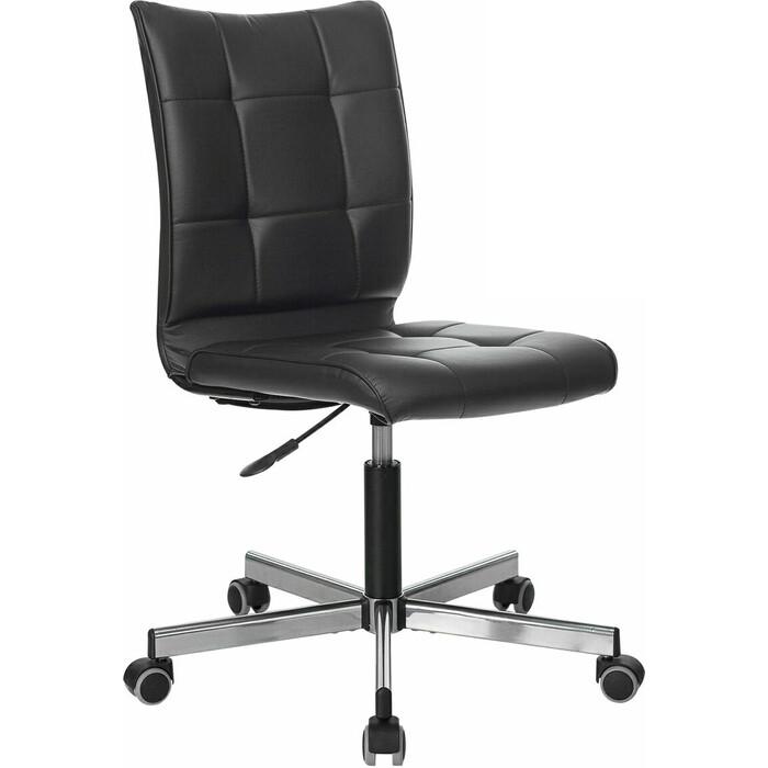Фото - Кресло без подлокотников Brabix Stream MG-314 пятилучие серебристое, экокожа черное 532077 кресло brabix stream mg 314 без подлокотников пятилучие серебристое экокожа бежевое 532078