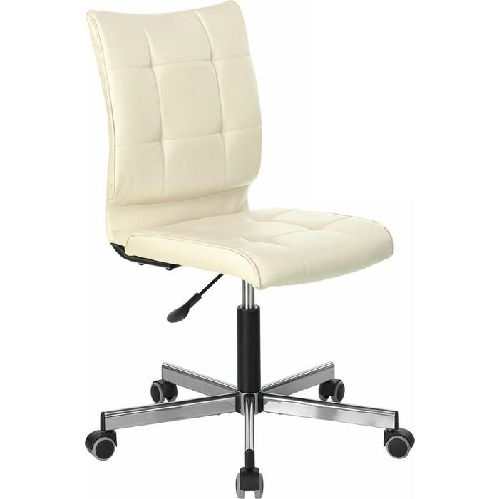 Фото - Кресло без подлокотников Brabix Stream MG-314 пятилучие серебристое, экокожа бежевое 532078 кресло brabix stream mg 314 без подлокотников пятилучие серебристое экокожа бежевое 532078