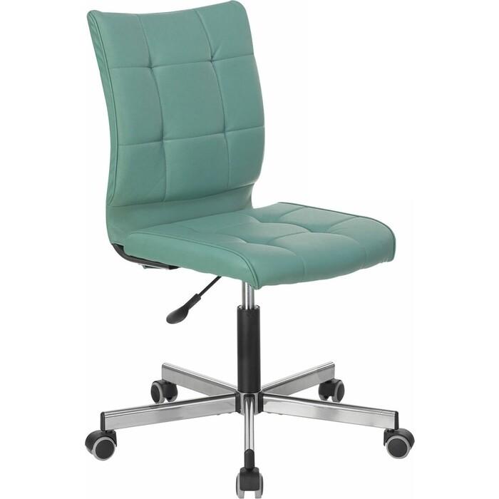Фото - Кресло без подлокотников Brabix Stream MG-314 пятилучие серебристое, экокожа серо-голубое 532079 кресло brabix stream mg 314 без подлокотников пятилучие серебристое экокожа бежевое 532078