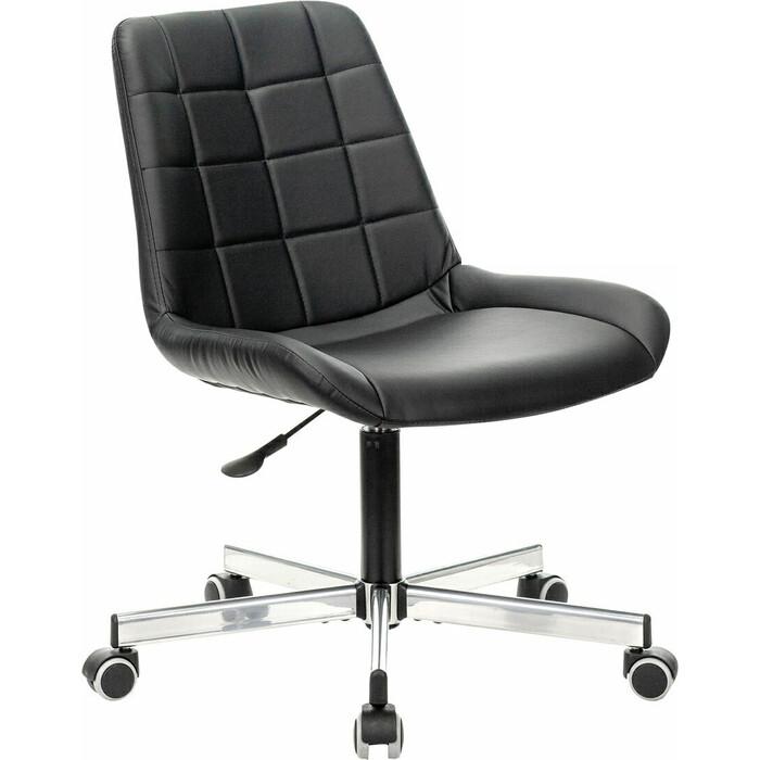 Фото - Кресло без подлокотников Brabix Deco MG-316 пятилучие серебристое, экокожа черное 532080 кресло brabix stream mg 314 без подлокотников пятилучие серебристое экокожа бежевое 532078