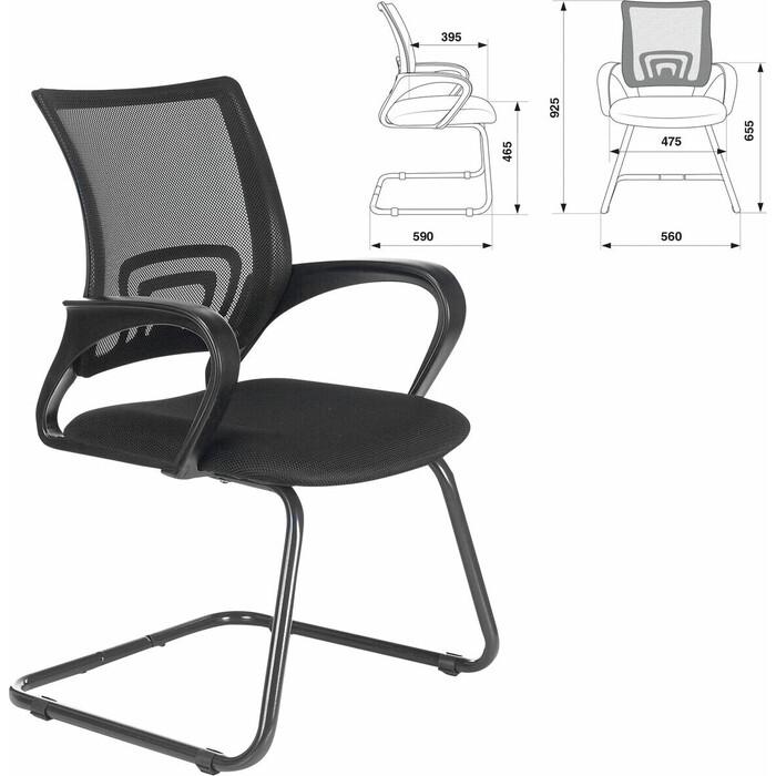 Кресло для приемных и переговорных Brabix Fly CF-100 черное 532087